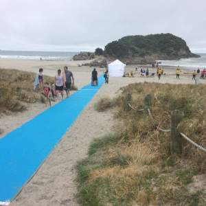 The Access Mat in action at Mount Maunganui.