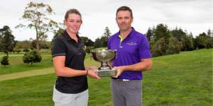 Alanna Campbell and Mark Brown. PHOTO: NZ Golf Magazine