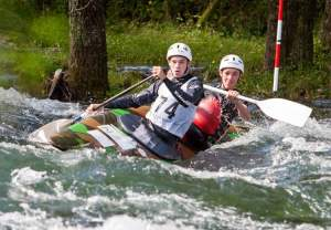 Jared Williams and Cole Anderson (c) Rob Worlledge, Hawkes Bay Canoe Club