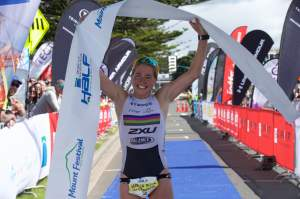 Port of Tauranga Half women's defending champ Amelia Watkinson.