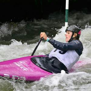 Luuka Jones claims her eighth title at the 2017 NZ Canoe Slalom Nationals.