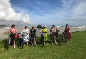 Whakatane Frocks on Bikes_web