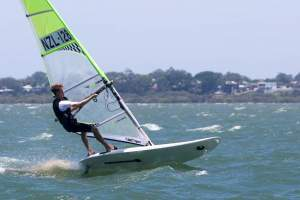 Max van der Zalm dominated the boy's division. Photo: Bic Techno 293 Sailboard - Australia.