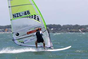 Verle ten Have. Photo: Bic Techno 293 Sailboard - Australia.